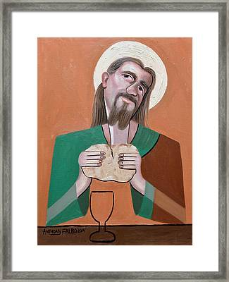 The Bread Of Life Framed Print by Anthony Falbo