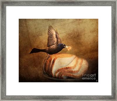 The Bread Thief Framed Print