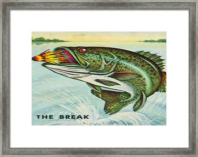 Framed Print featuring the digital art The Break by Cathy Anderson