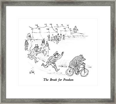 The Break For Freedom Framed Print