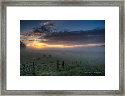 The Break Of Day Framed Print by Paul Herrmann