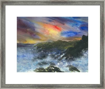 The Break Of The Sound Framed Print by Karen  Condron