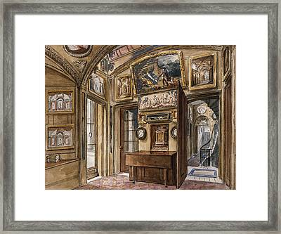 The Breakfast Room Framed Print by Charles James Richardson