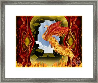 The Breakthrough - Surreal Art By Giada Rossi  Framed Print