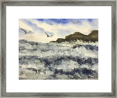 The Breeze  Framed Print by Karen  Condron