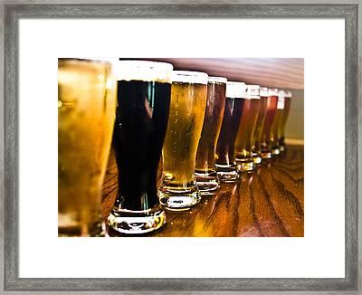 The Brew Line Up Framed Print
