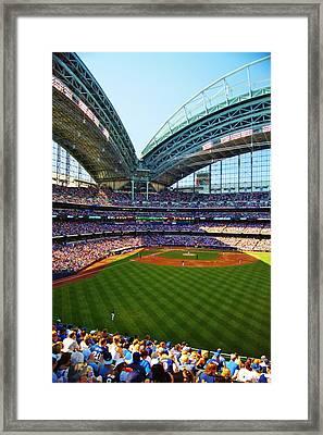 The Brewers Game Framed Print by Carol Toepke