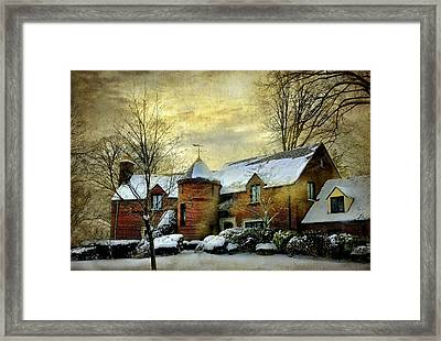 The Brick Turret Framed Print by Diana Angstadt