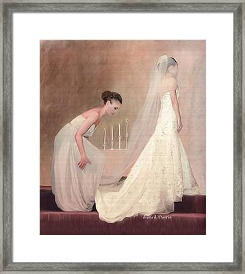 The Bride And Her Maid Of Honor Framed Print by Angela A Stanton