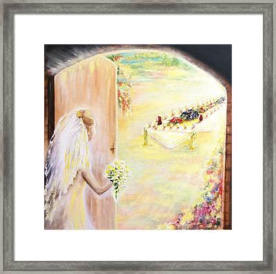 The Bride Framed Print by Helene Fallstrom