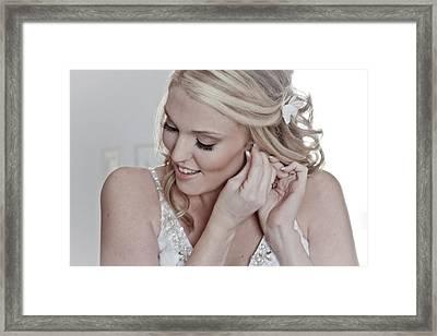 The Bride Framed Print by Linda Unger