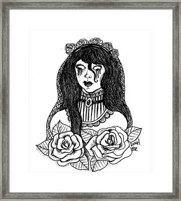 The Bride Framed Print by Mary Ether