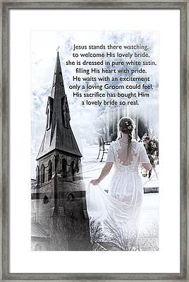 The Bride Of Christ Framed Print by Kathy Clark