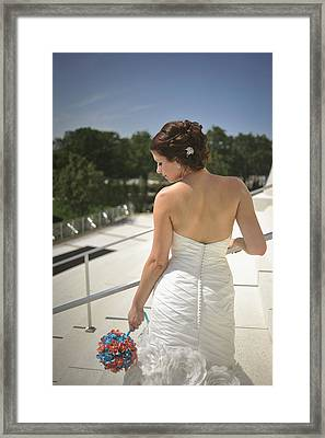 The Bride's Back Framed Print by Mike Hope