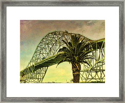 The Bridge As The Sun Breaks Through Framed Print by Wendy J St Christopher