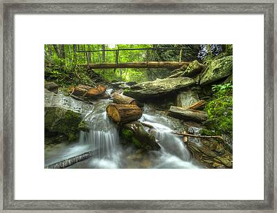 The Bridge At Alum Cave Framed Print
