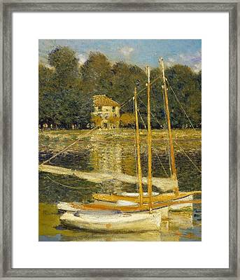The Bridge At Argenteuil Framed Print by Claude Monet