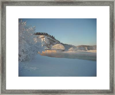 The Bridge At Big Delta 2 Framed Print by Cathy Mahnke