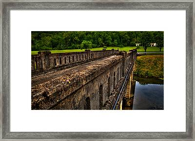The Bridge At Blowing Spring Park Framed Print by David Patterson