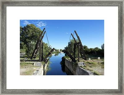 The Bridge At Langlois Painted By Van Gogh. Arles. France Framed Print by Bernard Jaubert