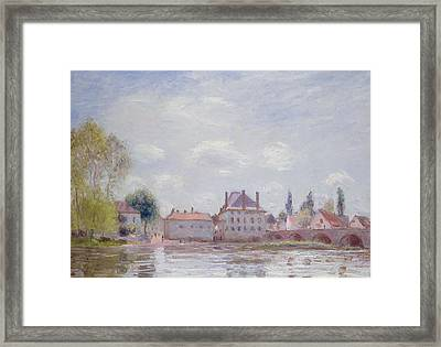 The Bridge At Moret Sur Loing Framed Print by Alfred Sisley