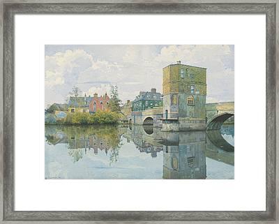 The Bridge At Saint Ives Framed Print by William Fraser Garden
