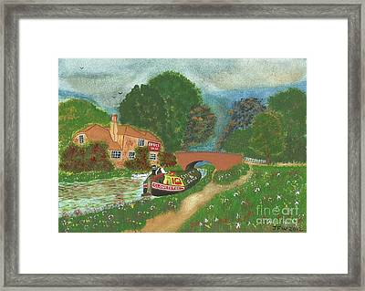 The Bridge Inn Framed Print