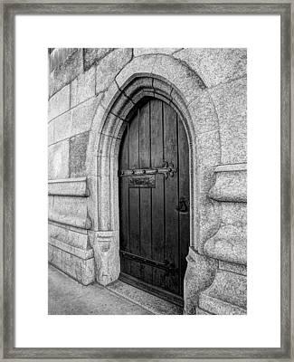 The Bridge Master's Door Tower Bridge In Black And White Framed Print by Gill Billington