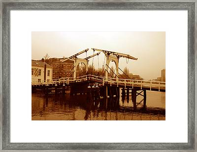 The Bridge Framed Print by Menachem Ganon
