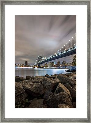 Framed Print featuring the photograph The Bridge Of 2 Cities by Anthony Fields