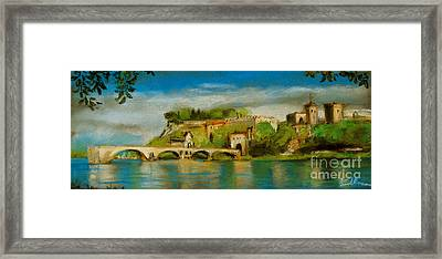 The Bridge Of Avignon Framed Print by Mona Edulesco