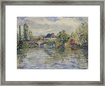 The Bridge Of Garennes Framed Print by Adolphe Clary Baroux