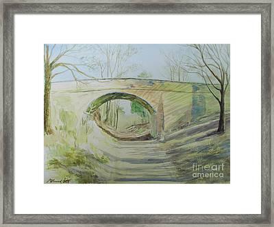 The Bridge Of More Or Less Framed Print