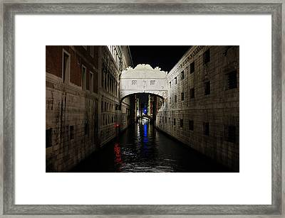 The Bridge Of Sighs Framed Print