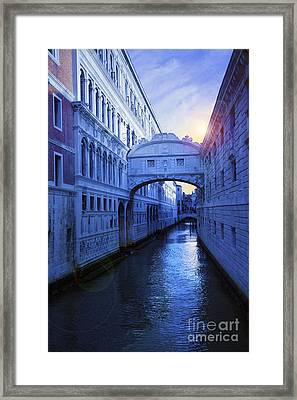 The Bridge Of Sighs Venice Framed Print by Simon Kayne