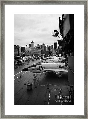 the bridge of the USS Intrepid at the Intrepid Sea Air Space Museum new york city Framed Print by Joe Fox