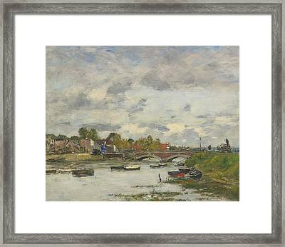 The Bridge On The Touques Deauville Framed Print by Celestial Images