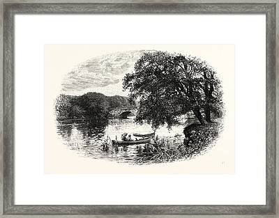 The Bridge, Otley, Uk. Otley Is A Market Town And Civil Framed Print by English School