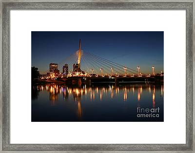 The Bridge Over Calm Waters Framed Print by Teresa Zieba