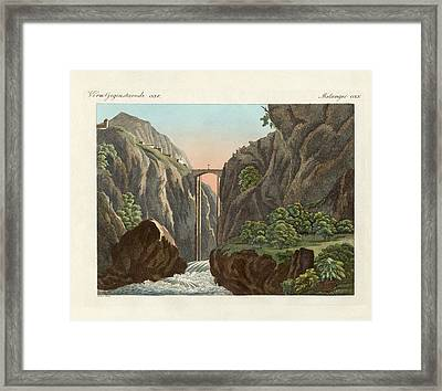 The Bridge To Ronda Framed Print