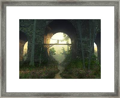 The Bridge Under The Bridge Framed Print