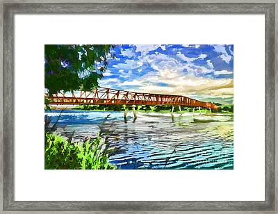 Framed Print featuring the photograph The Bridge by Yew Kwang
