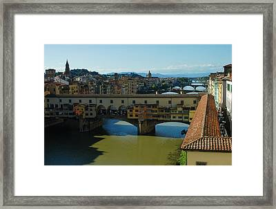 The Bridges Of Florence Italy Framed Print by Georgia Mizuleva