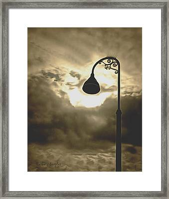 The Bright Light Of The Heavens Framed Print by Barbara Snyder