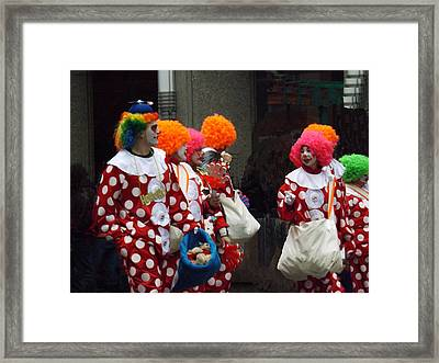 The Brightest Street Performers Framed Print