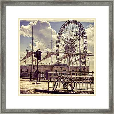 Framed Print featuring the photograph The Brighton Wheel by Chris Lord