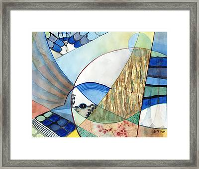 The Brilliant Blue Jay Framed Print