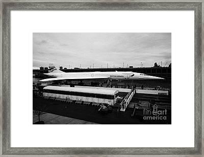 the British Airways Concorde exhibit from the Intrepid flight deck  Framed Print