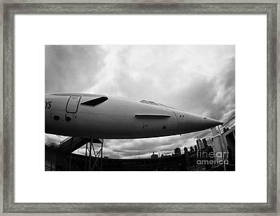 the British Airways Concorde nose Framed Print