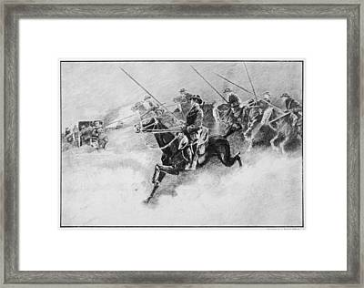 The British Cavalry In Action As Late Framed Print by Mary Evans Picture Library